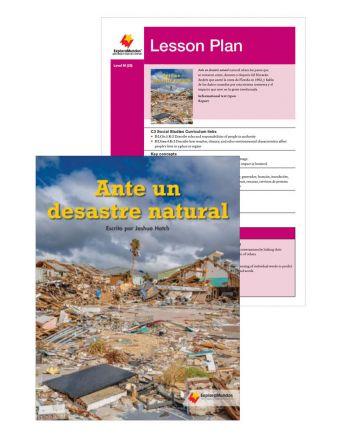 Ante un desastre natural