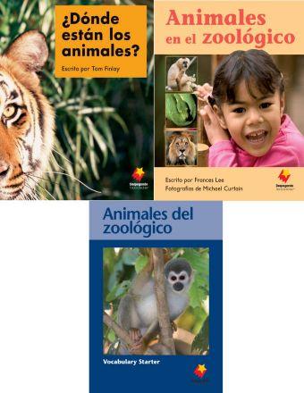 ¿Dónde están los animales? / Animales en el zoológico / Animales del zoológico Vocabulary Starter