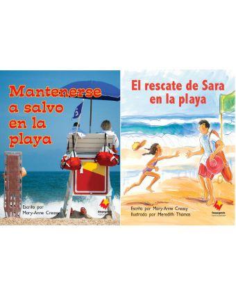 Mantenerse a salvo en la playa / El rescate de Sally en la playa