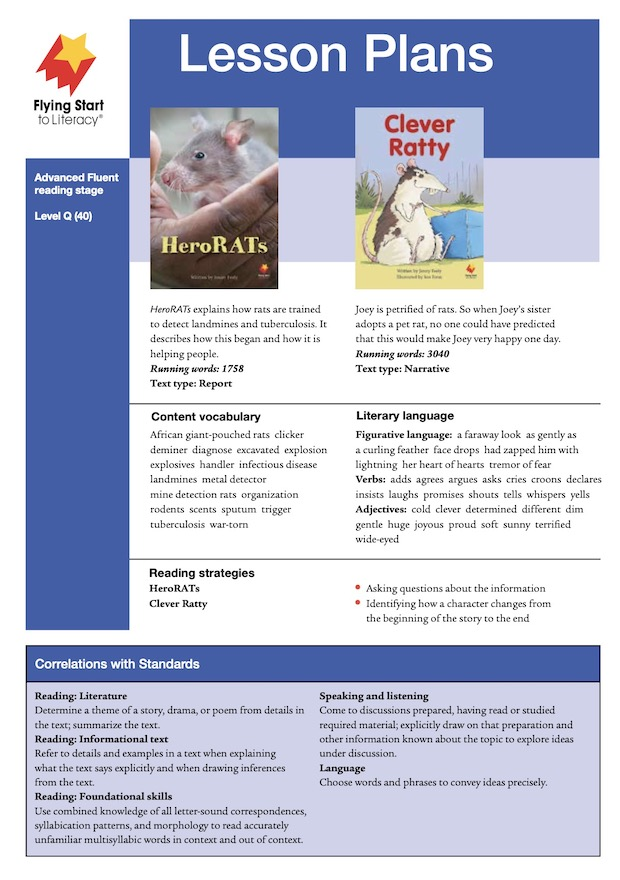 HeroRats / Clever Ratty Lesson Plan