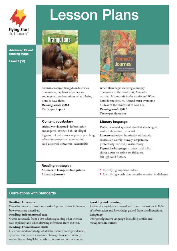 Animals in Danger: Orangutans / Ahmad's Journey Lesson Plan