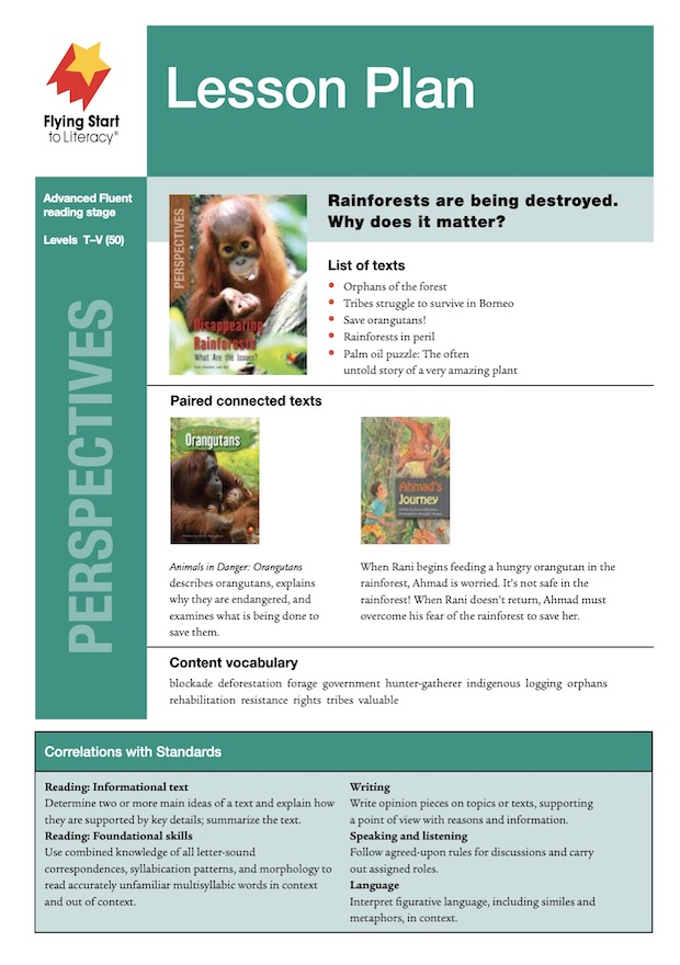 Perspectives Disappearing Rainforests: What Are the Issues? Lesson Plan