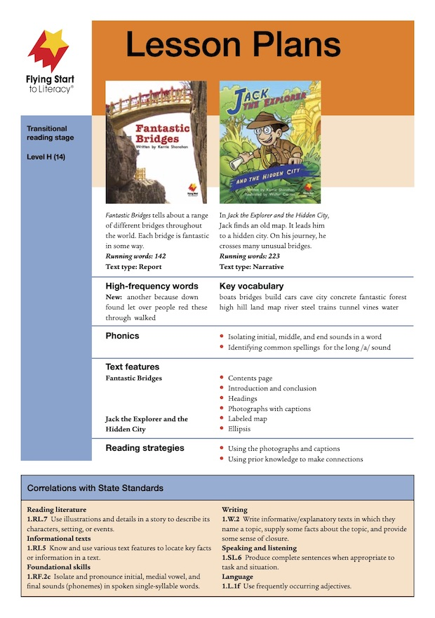 Fantastic Bridges / Jack the Explorer and the Hidden City Lesson Plan